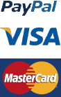 Pay with PayPal, Mastercard or Visa