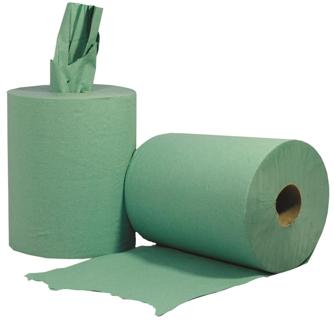 Green Centrefeed Roll Dairy Wipe 1 Ply 280m