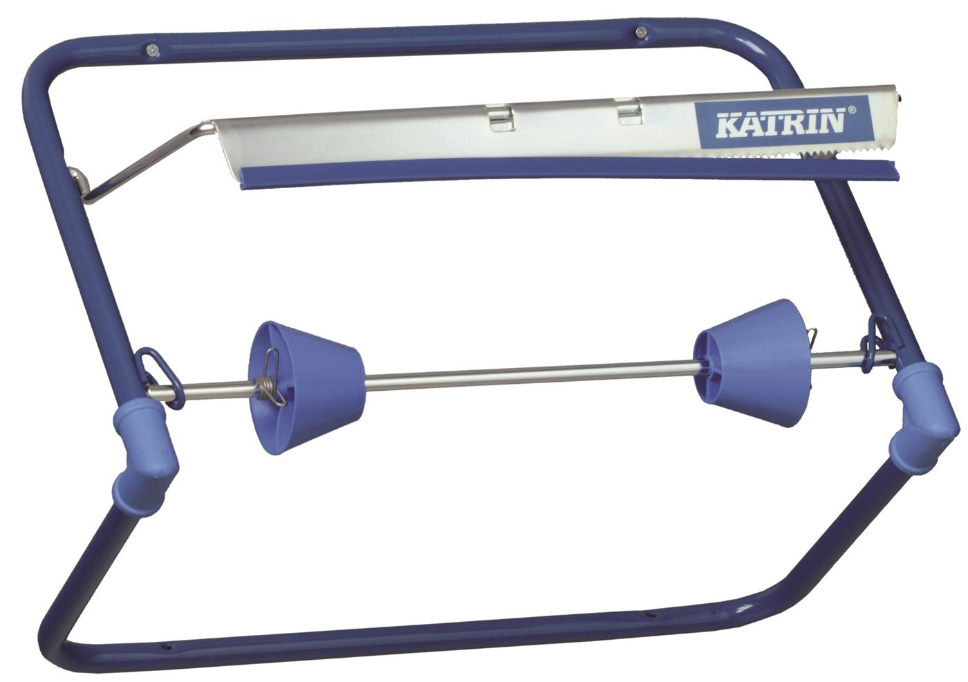 Katrin Blue Steel Wiping Roll Wall Dispenser
