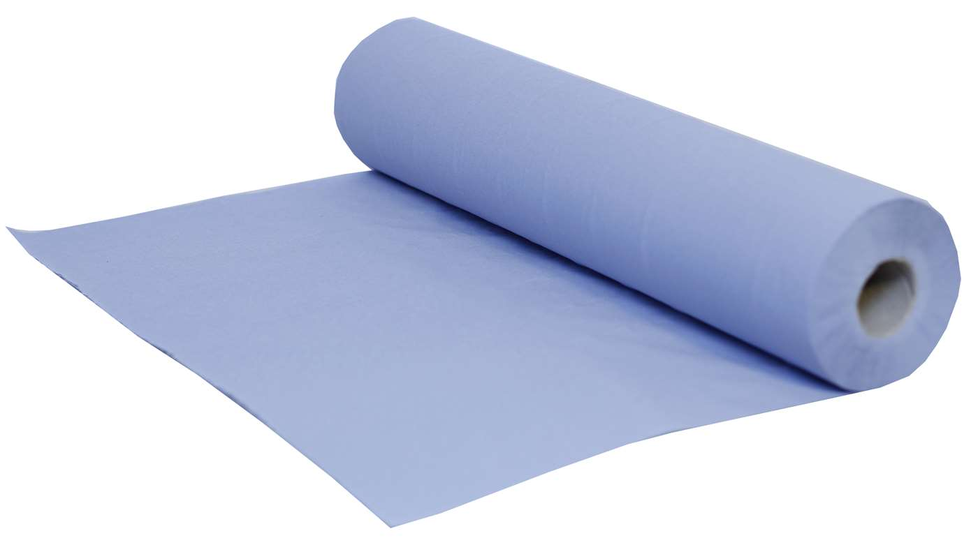 PRO Couch Roll 2 Ply Blue Recycled 50cm x 40m