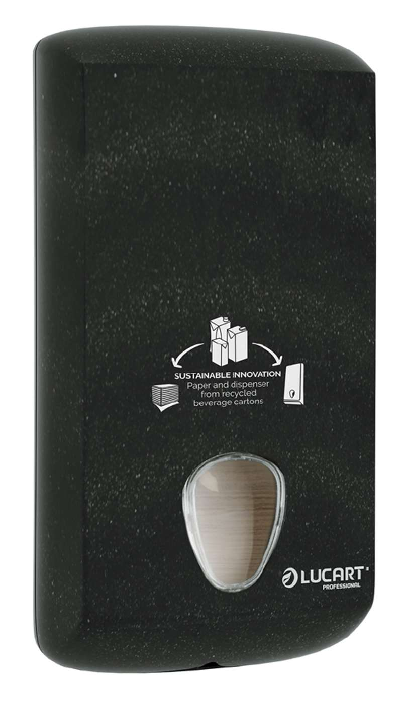Lucart Alpe Black Bulk Pack Toilet Tissue Dispenser