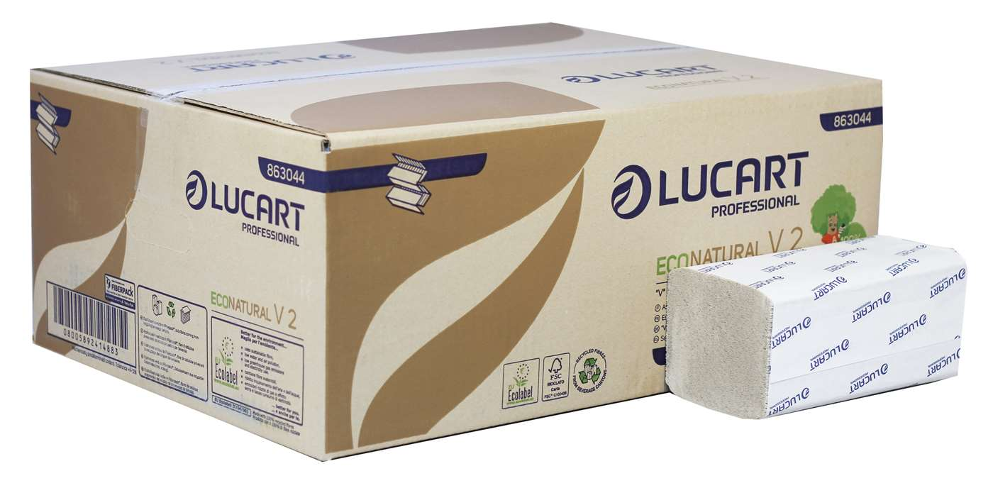 Lucart EcoNatural Interfold 2 Ply Paper Towel