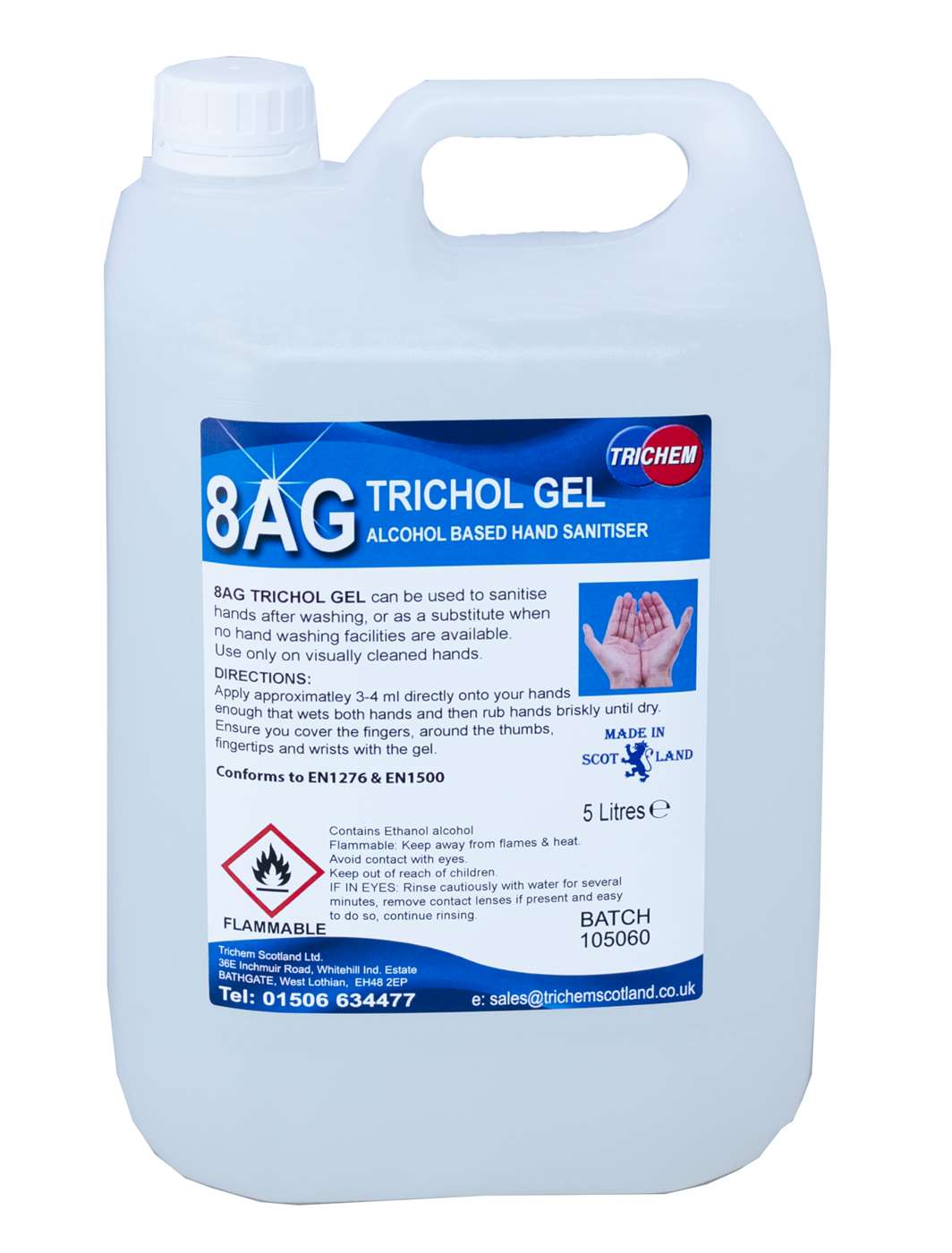 Sanitising Alcohol Hand Gel 2 x 5L