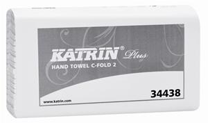 Katrin Plus White C-Fold 2 Ply Paper Towels 344388