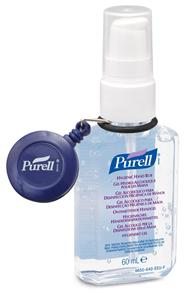 Purell Blue Retractable Personal Clip