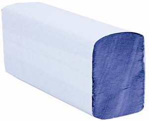 Satino Z-Fold Blue Recycled 1 Ply Paper Towel