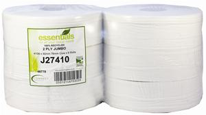 Standard Jumbo Toilet Rolls 400m White Recycled 2 Ply 76mm Core