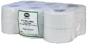 Mini Jumbo Toilet Rolls 150m 2 Ply White Recycled 76mm Core