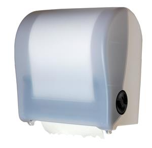 Translucent White Autocut Roll Towel Dispenser