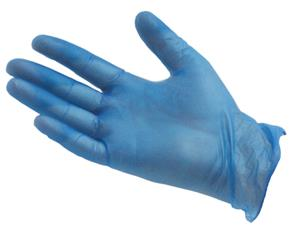 PRO Powdered Blue Vinyl Gloves