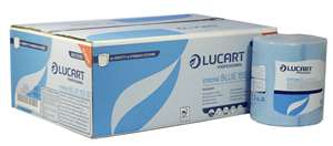 Lucart IDENTITY Strong 2 Ply Blue Roll Towel