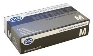 PRO UltraFLEX Black Nitrile Gloves