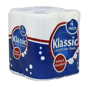Klassik 2 ply 50 sheet Kitchen Rolls