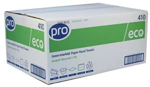 PRO Easipull Interfold 1 Ply Recycled Paper Hand Towel