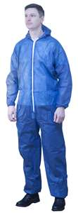 Polypropylene Blue Coverall & Hood
