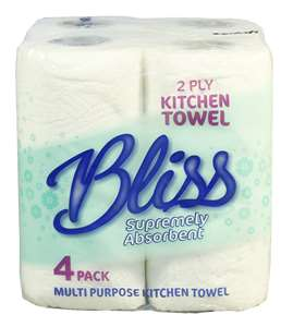 Bliss 2 ply 50 sheet Kitchen Rolls