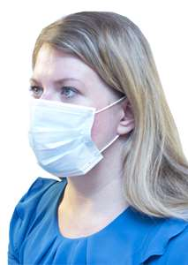 Pleated Surgical Masks with Elastic Loops